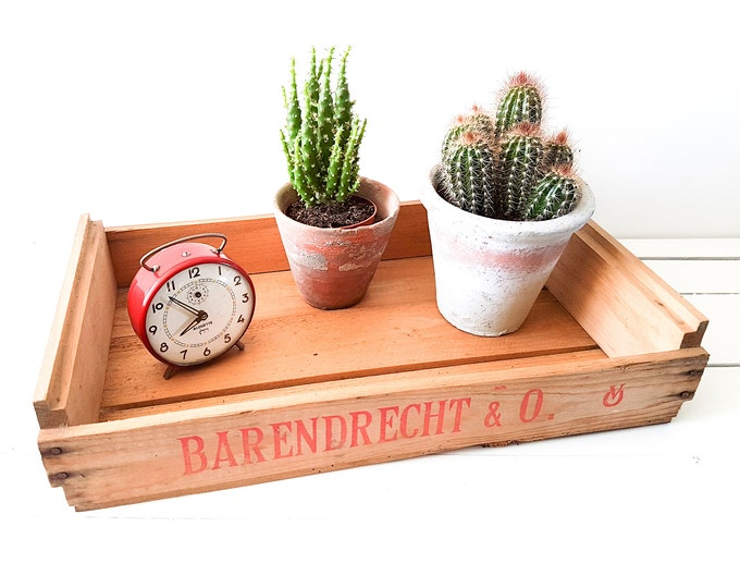 Dutch Old wooden auction crate * rustic wood crate * wood box * vintage crate * farmhouse decor