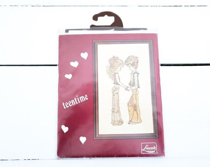 Vintage cross stitch kit • embroidery set • vintage needlework set • craft kit • handwork embroidery