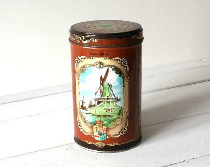 Old Dutch storage cookie tin 'Zaansche koeken'