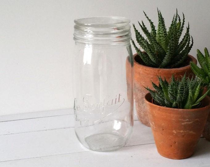 Vintage French glass preserving jar 'Le Parfait'