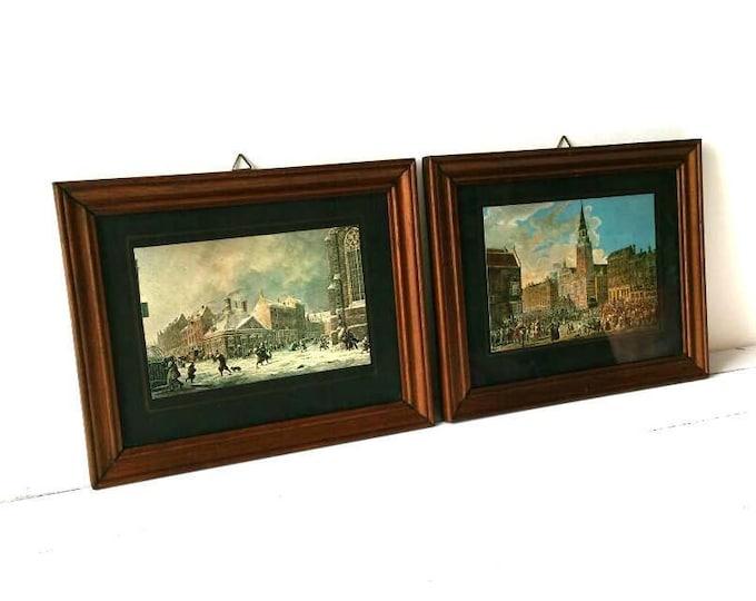 Vintage rustic picture frames 'Old town' (set)