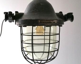 Vintage Industrial heavy light fixture