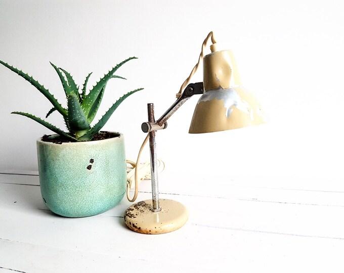Vintage industrial desk lamp * little lamp * industrial light * home decoration * nightstand light * rustic decor