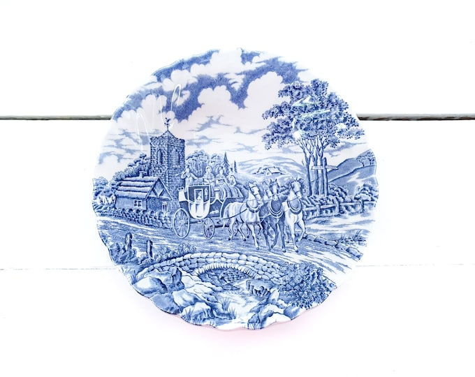 Vintage bowl Royal Mail by Myott • Myott Staffordshire ware England • replacement ware • kitchen decor accent blue white • collectible Myott