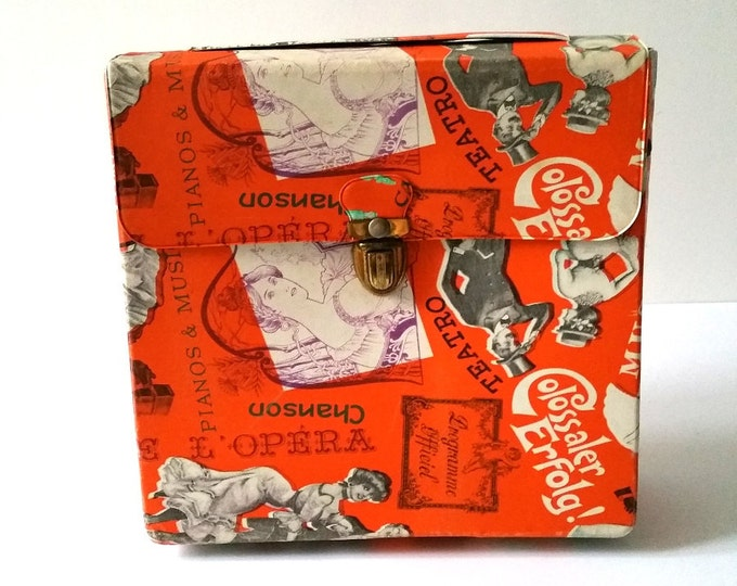 Awesome vintage carrying pouch / record case