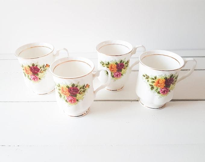 Antique porcelain cup 'Pink Roses' * vintage high teacup * porcelain tableware * fine bone china * teacup roses * high tea