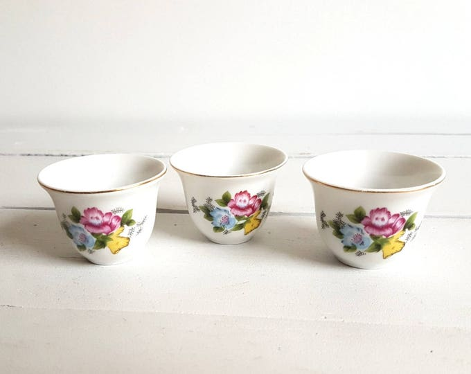 Vintage trio set sake cups / eggcups