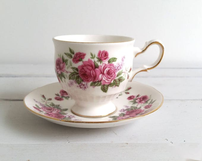 Antique fine bone china cup and saucer 'Queen Anne'
