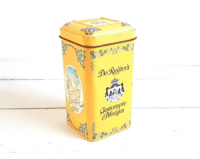 Old Dutch tin  * vintage storage container * kitchen storage * kitchen decoration * collectible tin * anise