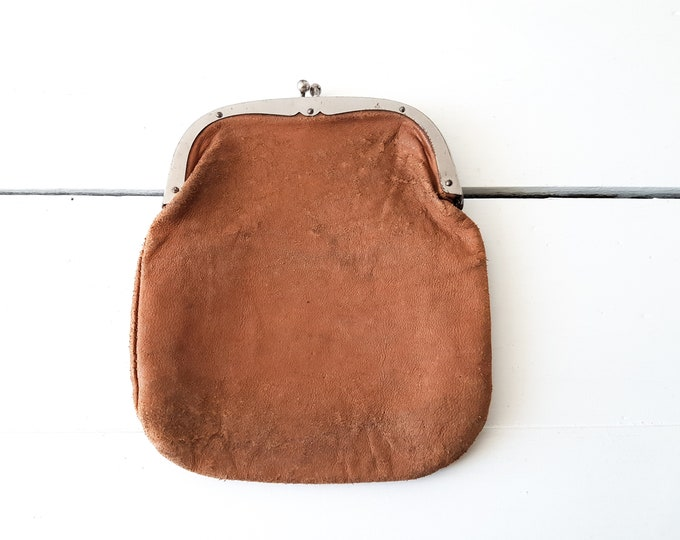 Vintage soft leather wallet 'knip' * vintage leather purse * vintage wallet women * coin purse