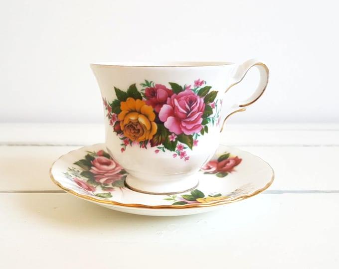Vintage classic porcelain cup and saucer 'mismatched'