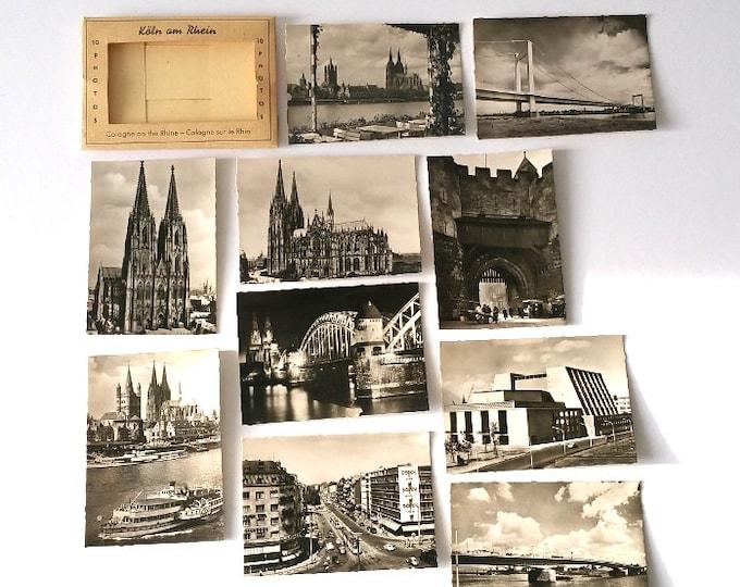 Old photography black & white photo cards 'Koln am Rhein'