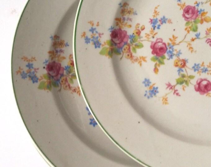 Vintage diner plate 'floral flowers'