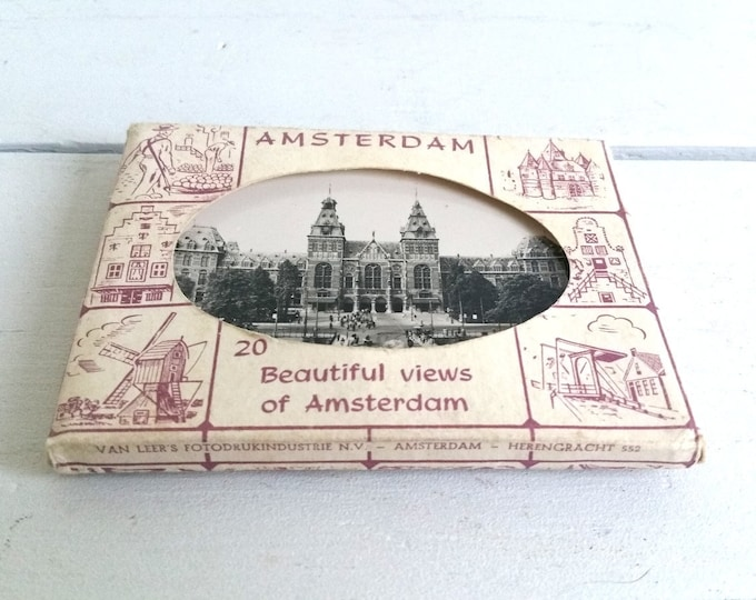 Vintage pack of old pictures 'Beautiful views of Amsterdam'