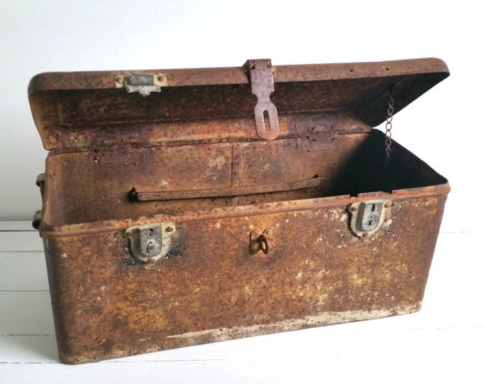 Awesome old rustic metal box