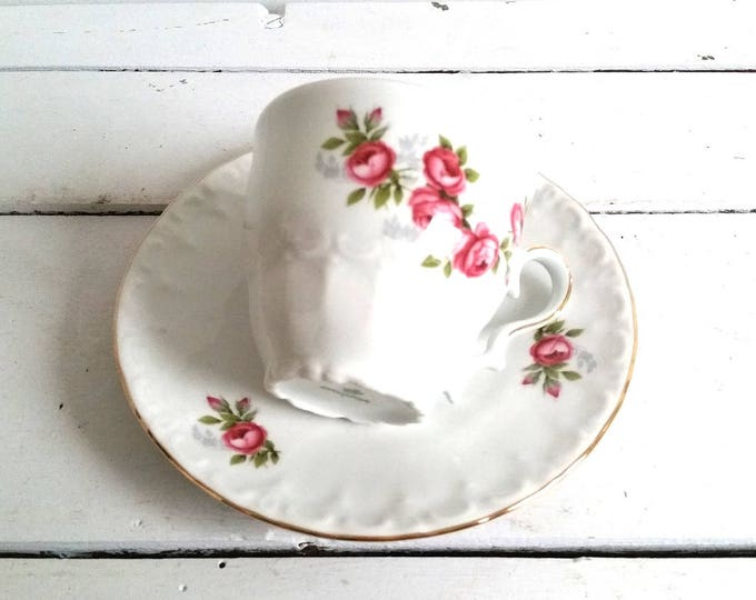 Vintage china cup and saucer 'roses'