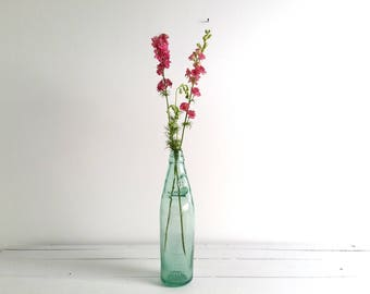 Old English glass codd-neck bottle 'Cannington Shaw and Co '* vintage green glassware * barn style * farmhouse decoration