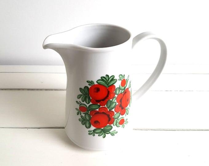 Vintage water pitcher / jug 'flowers'