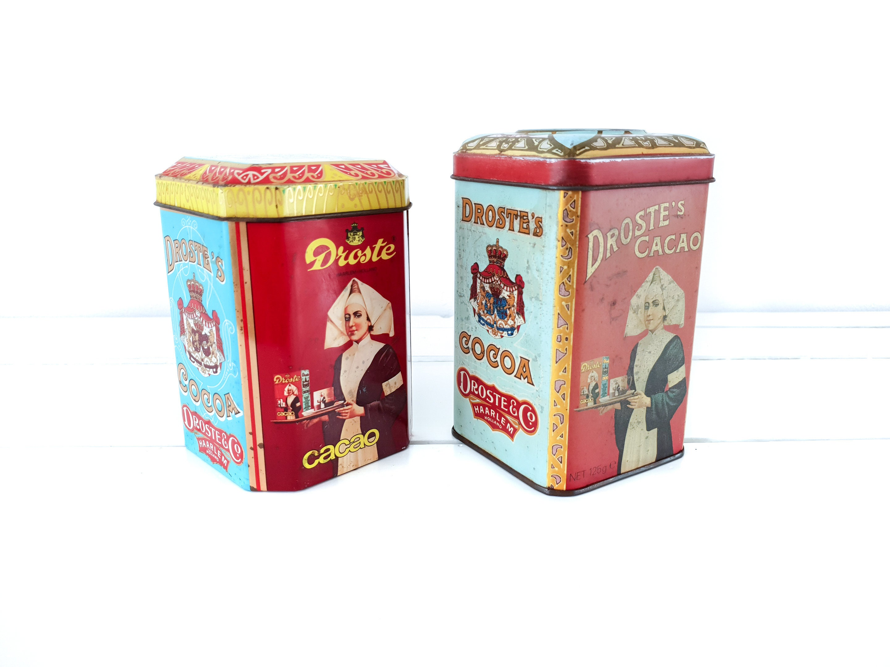 Hard to Find DUTCH Droste/'s Tins Cocoa Excellent to Near  Condition Vintage