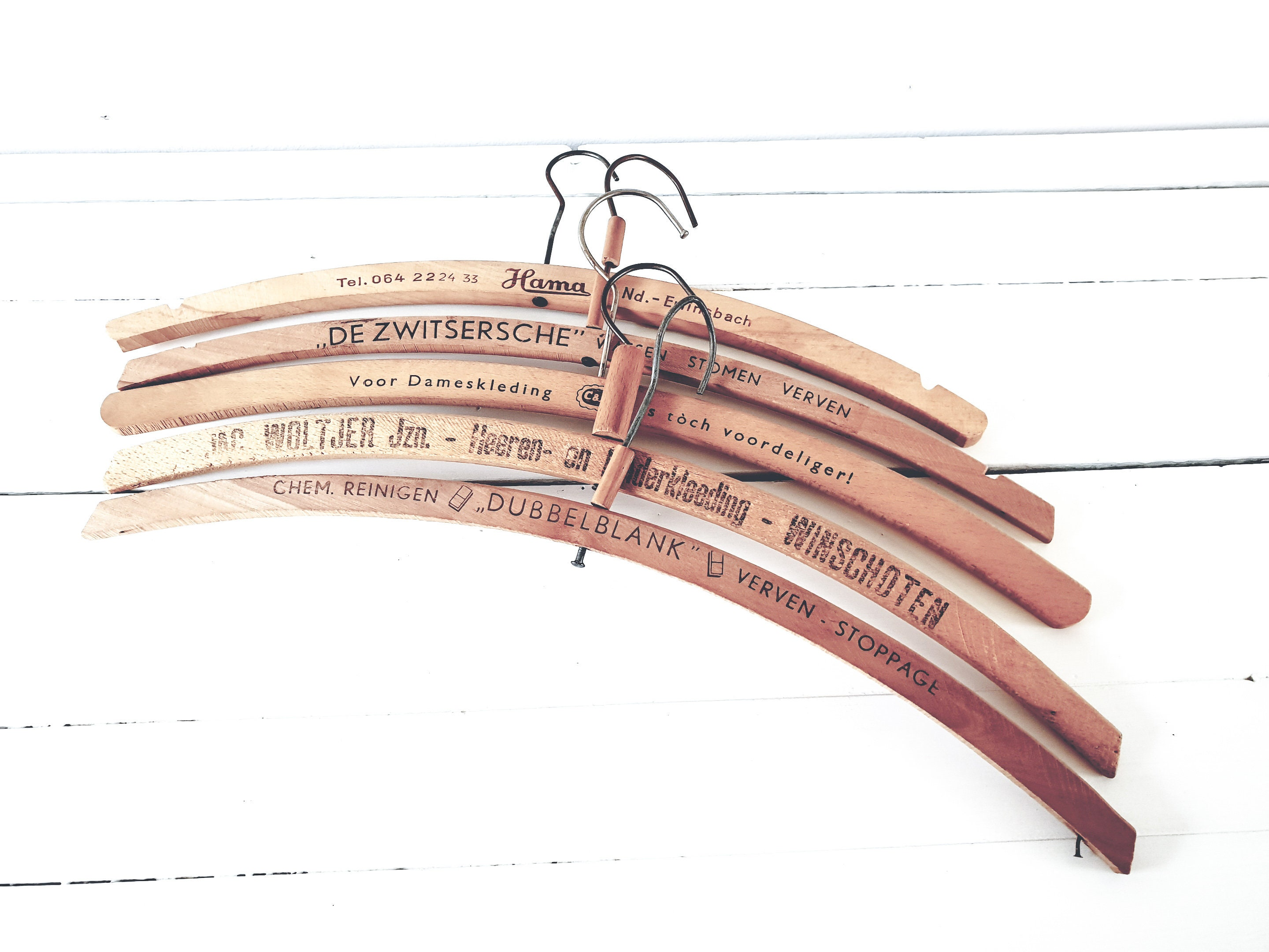 Vintage Wooden Advertising Clothes Hangers Old Wooden Clothes