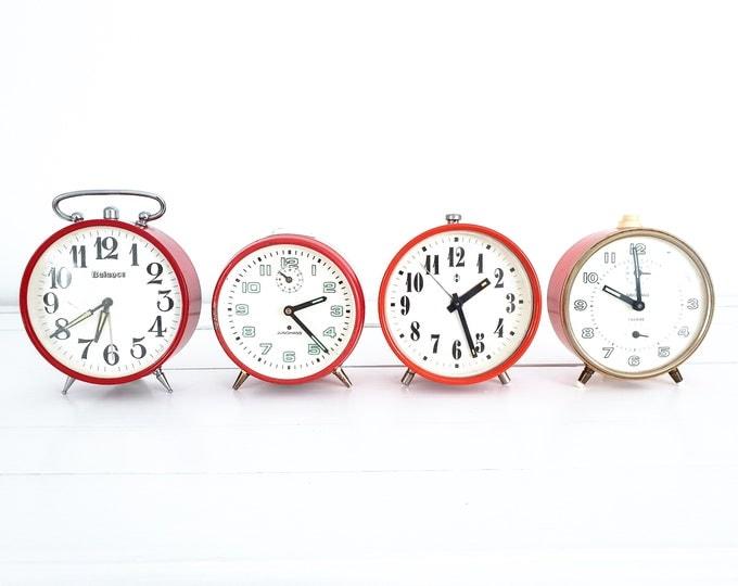 Retro alarm clock • vintage Junghans alarm clock • German clocks antique • second hand clock