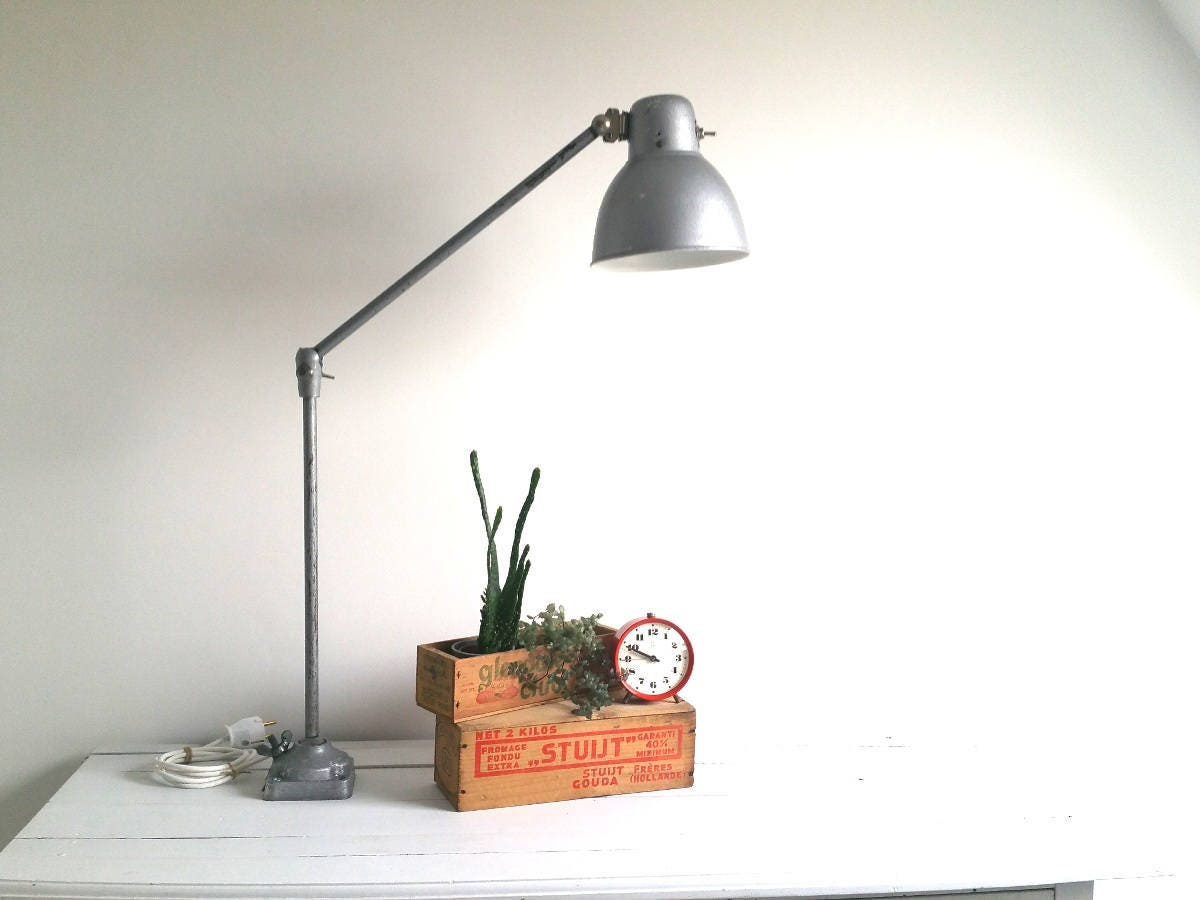 industrial home lighting. Vintage Industrial Desk Lamp * Home Office Metal Lighting R
