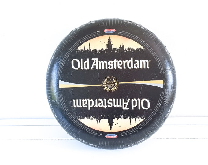 Amsterdam cheese dummy • fake food shop decoration • replica cheese wheel • kitchen decoration • fake cheese wheel • cheese lover gift