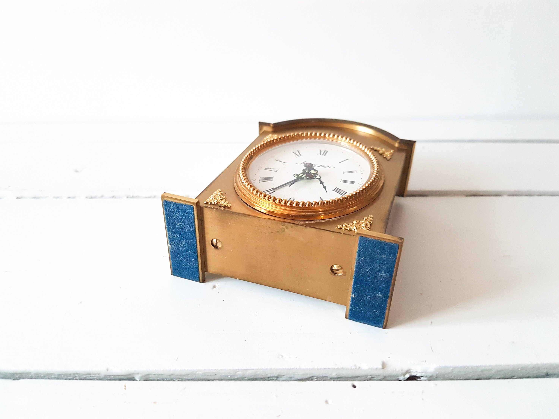 Vintage brass alarm clock 'Jerger' * old clocks ...
