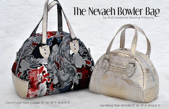 Nevaeh Bowler Bag PDF sewing pattern Pattern includes 2  9925f3c8ed0d0