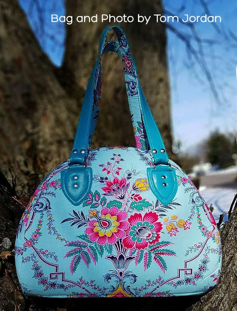 88556b9ec2 Nevaeh Bowler Bag PDF sewing pattern Pattern includes 2