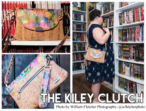 98e5f4740978 The Kiley Clutch with optional Shoulder Strap- 3 Flap Options- PDF sewing  pattern - RLR Creations