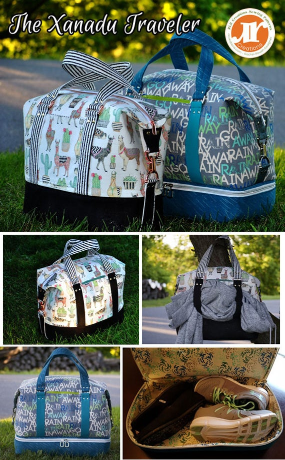 d27475086375 Xanadu Traveler PDF Sewing Bag Pattern Includes 2 Sizes and 2