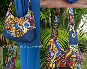 Marichel Hobo Shoulder Bag PDF Sewing Bag Pattern- Includes 2 Sizes - A  quick and easy sew - RLR Creations