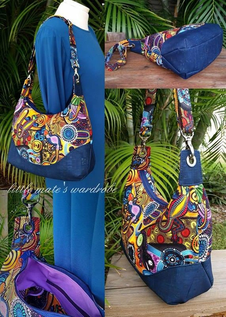 f6ac33cccf73 Marichel Hobo Shoulder Bag PDF Sewing Bag Pattern Includes 2