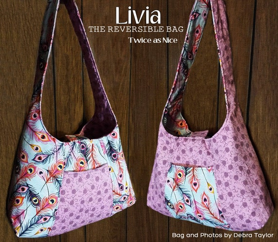 Livia Reversible Bag PDF Sewing Bag Pattern A great beginner  66ccfdb1a1d7d