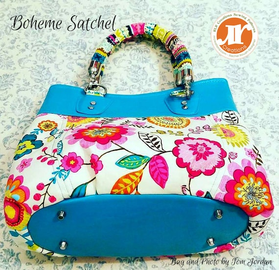Boheme Satchel Handbag PDF Sewing Bag Pattern Expandable  9197a1f2709fc