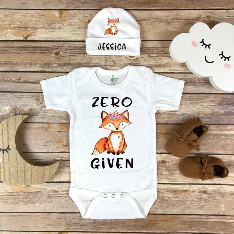 6373d710f Zero Fox Given shirt Fox Onesie Funny baby bodysuit Funny   Etsy