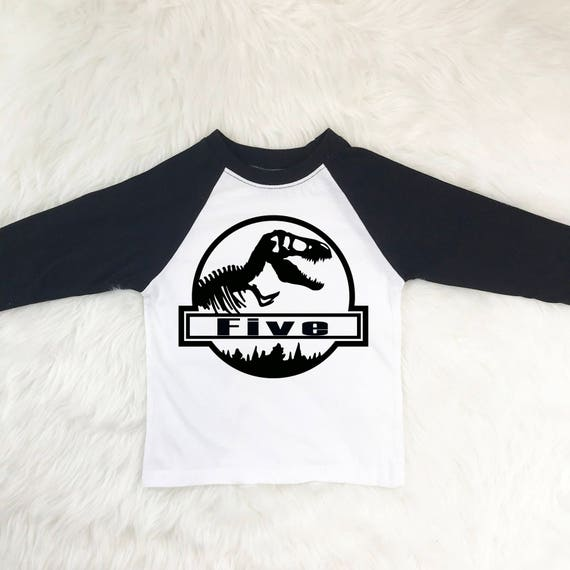 5 Year Old Birthday Dinosaur Shirt
