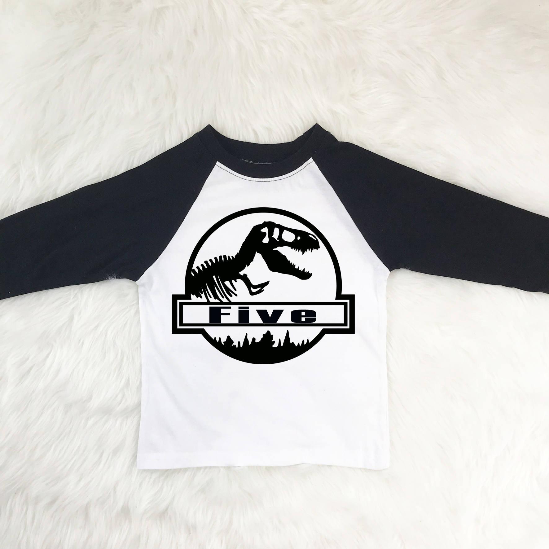 5 Year Old Birthday Dinosaur Shirt