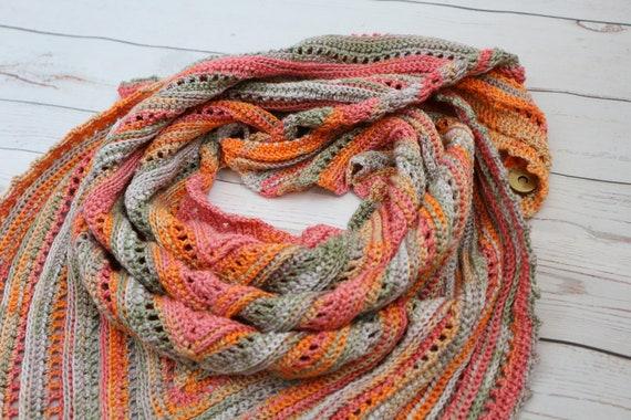 Triangle Shawl Crochet Baktus Scarf Crochet Shawl Boho Shawl