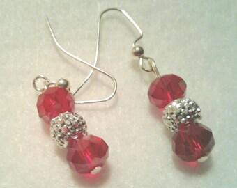 Deep red crystals