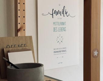 A4/A3 Family Calendar and Annual Planner 2022