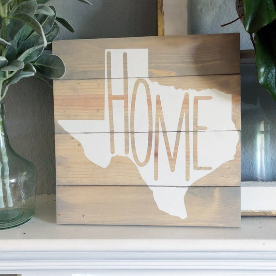 Wooden Texas Recycled Pallet Sign By Rusticrestyle On Etsy: State Pride Pallet Sign Texas Silhouette Texas Home Art