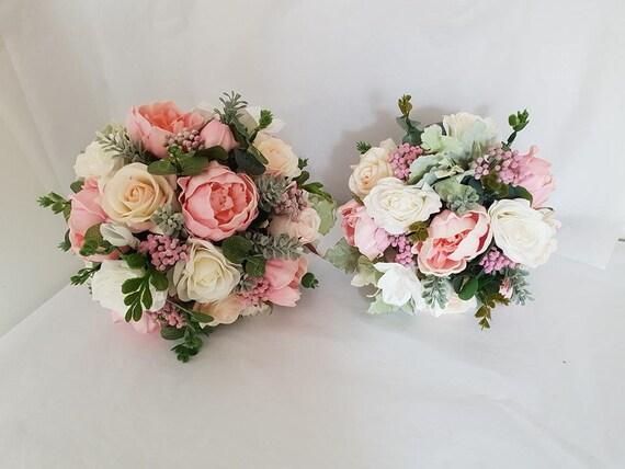 Erroten Rosa Real Touch Hochzeit Blumenstrauss Braut Etsy