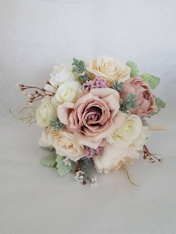 Erroten Rosa Seide Braut Hochzeit Blumenstrauss Kunstliche Etsy