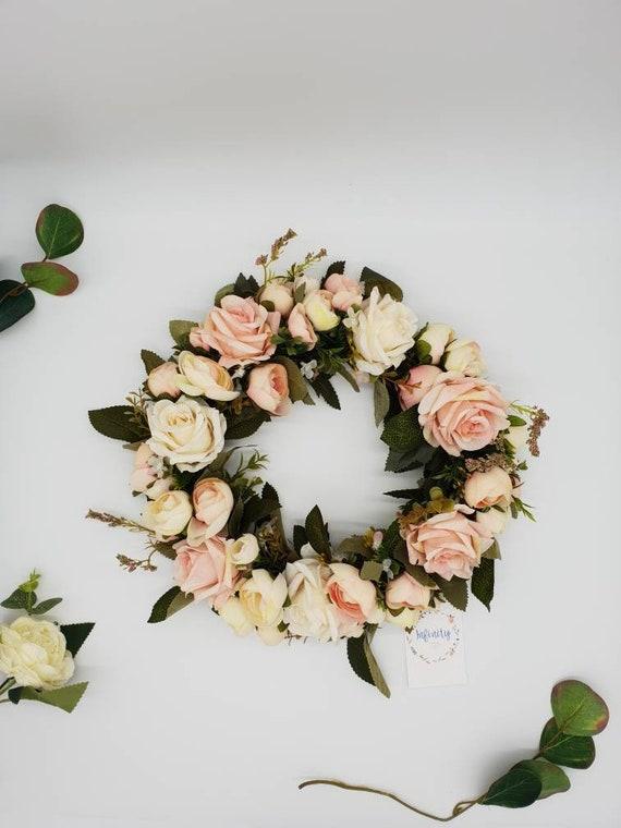 Blush Pink Artificial Flower Wedding Wreath Blush Wedding Flower Table Centres Wedding Decorations Wedding Table Decor Table Decorations