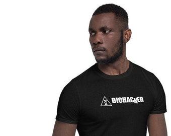 Men's Biohacker Shirt with DNA Symbol