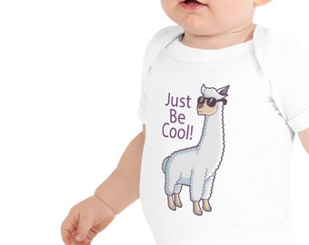 Just Be Cool Llama Baby short sleeve one piece