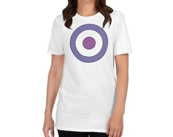 White Target Hawkeye Inspired Short Sleeve T-Shirt Matt Fraction Design