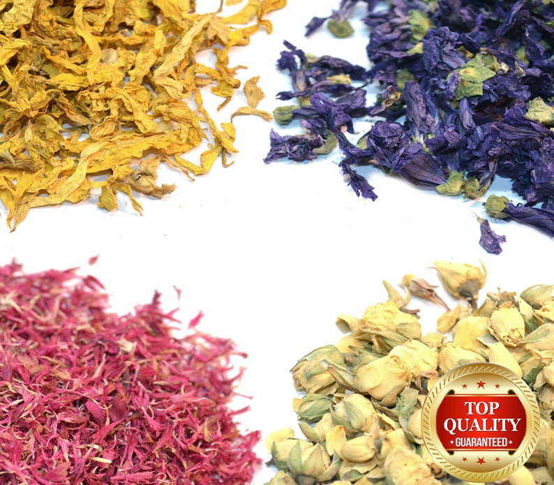 Dried Flowers & Dry Petals 54 Types Wedding Confetti Decor image 0